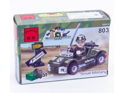 Конструктор Военная серия «Военный автомобиль» (Brick 803)