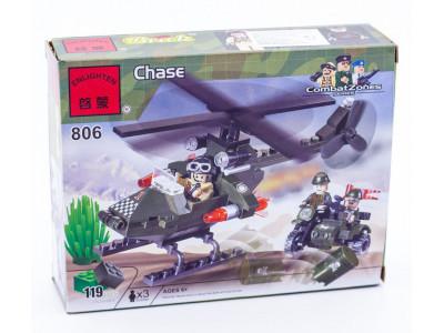 Конструктор Военная серия «Военный вертолет» (Brick 806)