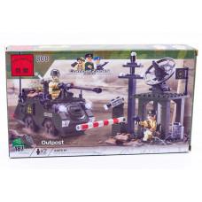 Конструктор Военная серия «Блок-пост и БТР» (Brick 808)