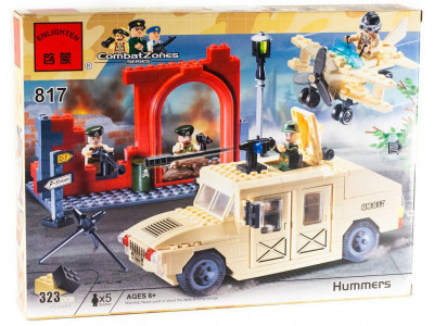 Конструктор Военная серия «Военный Хаммер» (Brick 817)