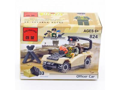 Конструктор Военная серия «Военный джип» (Brick 824)