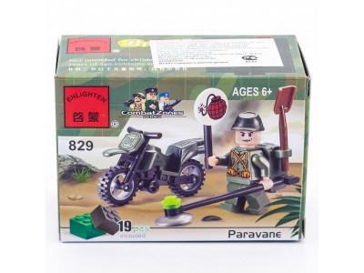 Конструктор Военная серия «Сапёр на мотоцикле» (Brick 829)