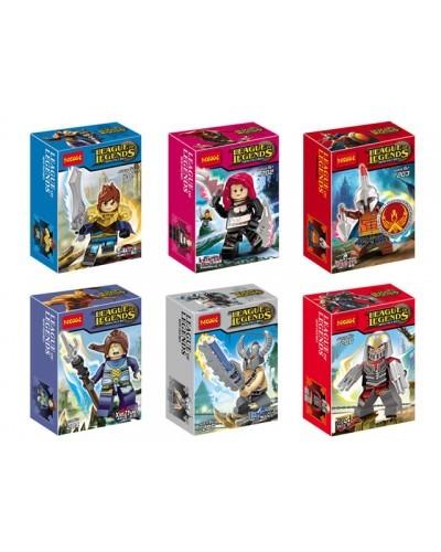 Набор 6 мини-конструкторов «League of Legends» (Decool 201-206)