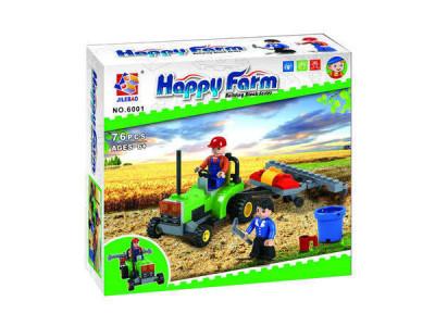 Конструктор Счастливая ферма «Трактор с плугом» (Jilebao 6001)