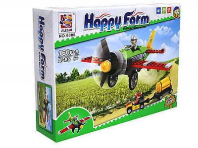 Конструктор Счастливая ферма «Кукурузник для обработки полей» (Jilebao 6006)