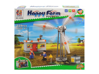 Конструктор Счастливая ферма «Ветряная мельница» (Jilebao 6008)