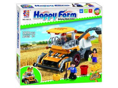Конструктор Счастливая ферма «Комбайн для сборки урожая» (Jilebao 6013)