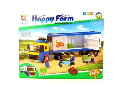 Конструктор Счастливая ферма «Грузовик для перевозки продуктов» (Jilebao 6014)