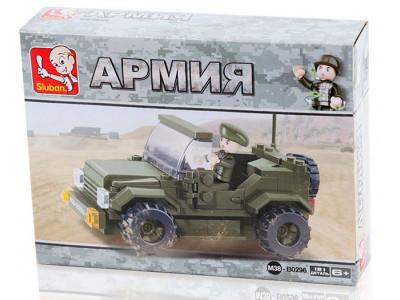 Конструктор Sluban Армия «Военный джип» (M38-B0296)