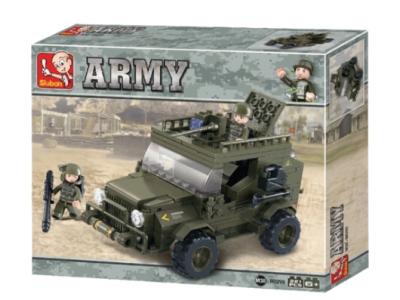 Конструктор Sluban Армия «Армейский джип» (M38-B0299)