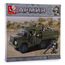 Конструктор Sluban Армия «Армейский грузовик» (M38-B0301)