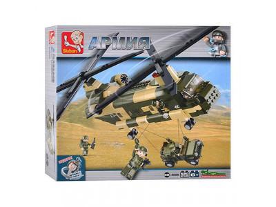Конструктор Sluban Армия «Многоцелевой вертолет» (M38-B0508)