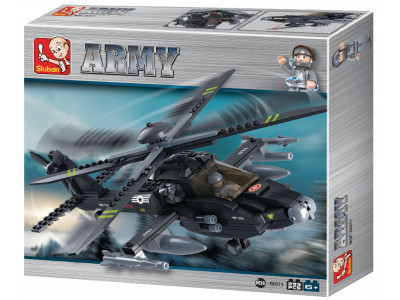 Конструктор Sluban Армия «Вертолет Апач AH-64» (M38-B0511)