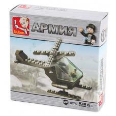 Конструктор Sluban Армия «Одноместный вертолет» (M38-B5700)