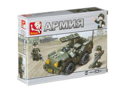 Конструктор Sluban Армия «Джип с ракетной установкой» (M38-B5800)