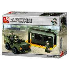 Конструктор Sluban Армия «КПП и джип» (M38-B6100)