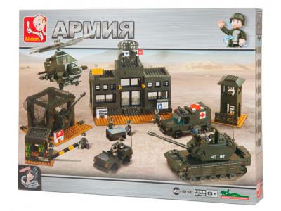 Конструктор Sluban Армия «Сухопутные войска: Штаб-Квартира» (M38-B7100)