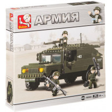 Конструктор Sluban Армия «Броневик с пулемётом» (M38-B9900)