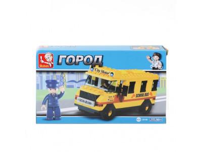 Конструктор Sluban Город «Школьный автобус» (M38-B100)