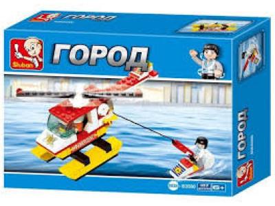 Конструктор Sluban Город «Вертолет пожарного центра» (M38-B3500)