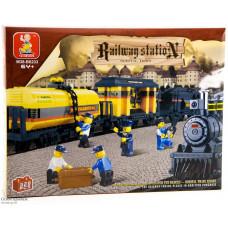Конструктор Sluban Вокзал «Грузовой поезд» (M38-B0233)
