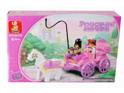 Конструктор Sluban Розовая мечта «Карета принцессы» (M38-B0239)