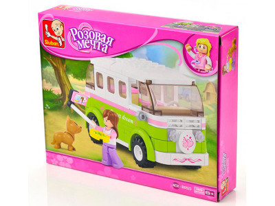 Конструктор Sluban Розовая мечта «Микроавтобус для путешествий» (M38-B0523)