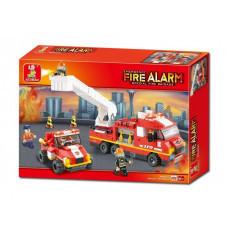 Конструктор Sluban Пожарный «Дежурный отряд» (M38-B0223)