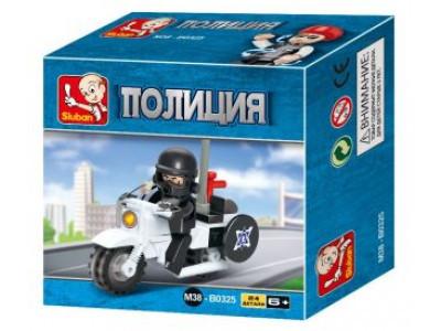 Конструктор Sluban Полиция «Мотоцикл» (M38-B0325)