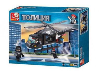 Конструктор Sluban Полиция «Патрульный вертолет» (M38-B1800)