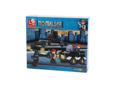 Конструктор Sluban Полиция «Джип и бронетранспортер» (M38-B2000)