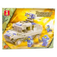 Конструктор Sluban Спецслужбы «Бронетранспортёр на колёсах с ракетной установкой» (M38-B0203)