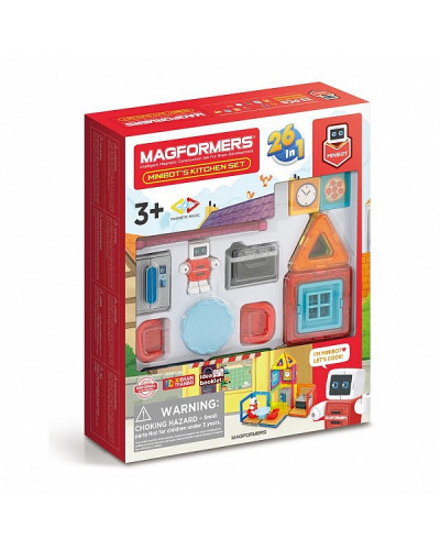 Магнитный конструктор Magformers - Minibot's Kitchen Set